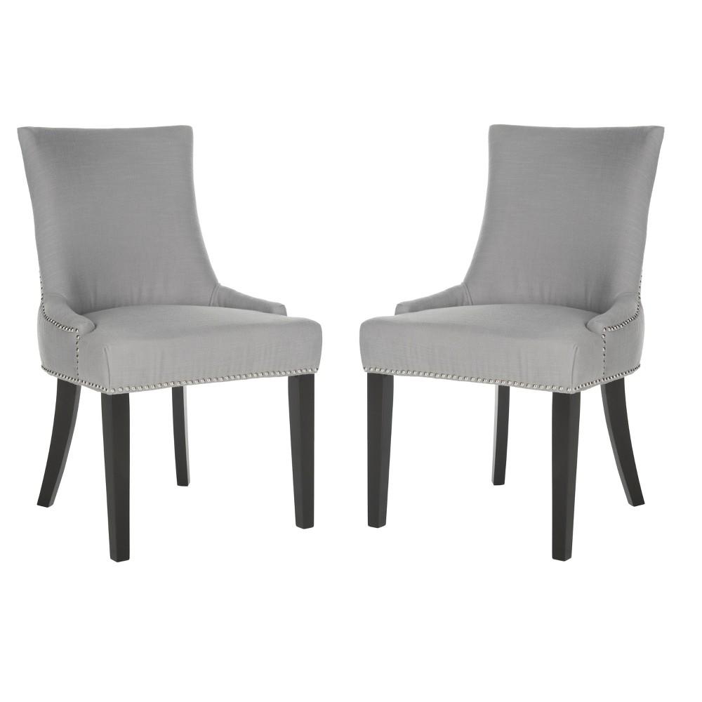 Lester Dining Chair -Gray (Set of 2) - Safavieh, Gray