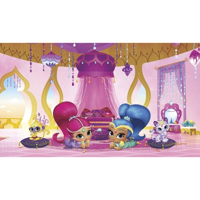 6'x10.5' XL Shimmer and Shine Genie Palace Chair Rail Prepasted Mural Ultra Strippable - RoomMates