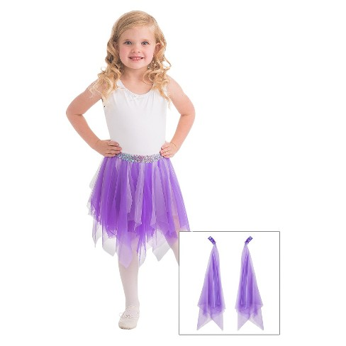 Little Adventures Fairy Tutu and Wrist Scarves Lilac - image 1 of 1