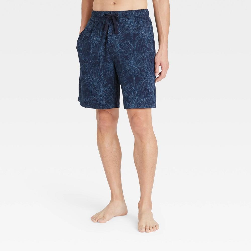 Men 39 S 9 34 Regular Fit Knit Pajama Shorts Goodfellow 38 Co 8482 Blue 2xl