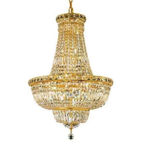 Elegant Lighting 2528D22G Tranquil 22-Light, Two-Tier Crystal Chandelier, Finished in Gold - image 1 of 1