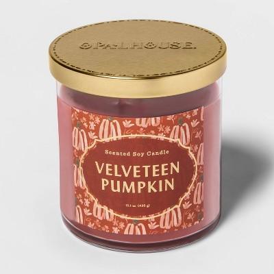15.1oz Lidded Glass Jar 2-Wick Velveteen Pumpkin Candle - Opalhouse™