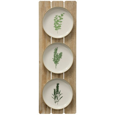 35.43  Herbs Plates Decorative Wall Art - StyleCraft