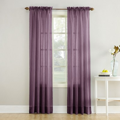 Erica Crushed Sheer Voile Rod Pocket Curtain Panel - No. 918