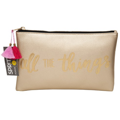 Gold Print Cosmetic Pouch - Spritz™ - image 1 of 1