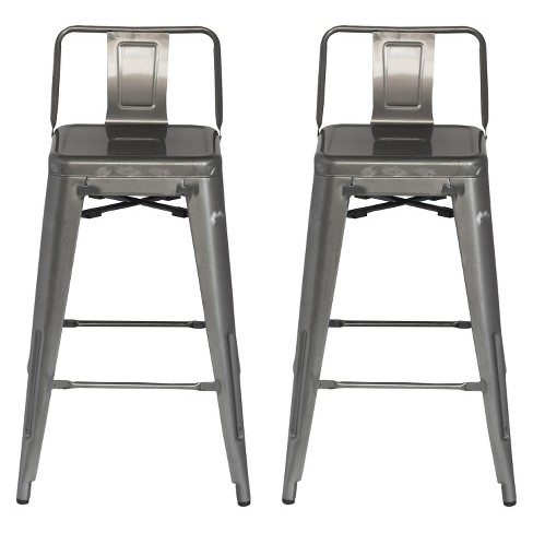 Low Back 24 Counter Stool Set Of 2