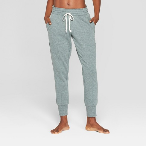 Women's Cozy Jogger Pajama Pants - Xhilaration™ Green S - image 1 of 2
