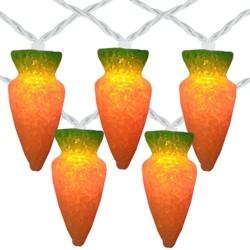 Northlight 10-Count Orange Carrot Easter String Light Set, 7.25ft White Wire