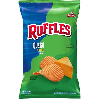 Ruffles Queso Flavored Chips - 8.5oz