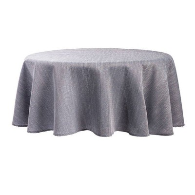 """70"""" Round Harper Tablecloth Gray - Town & Country Living"""