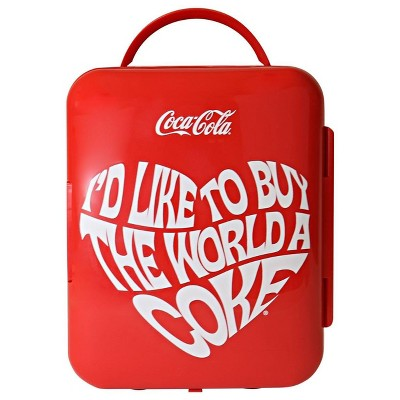 Coca-Cola World 1971 Series 6 Can Cooler/Warmer Mini Fridge