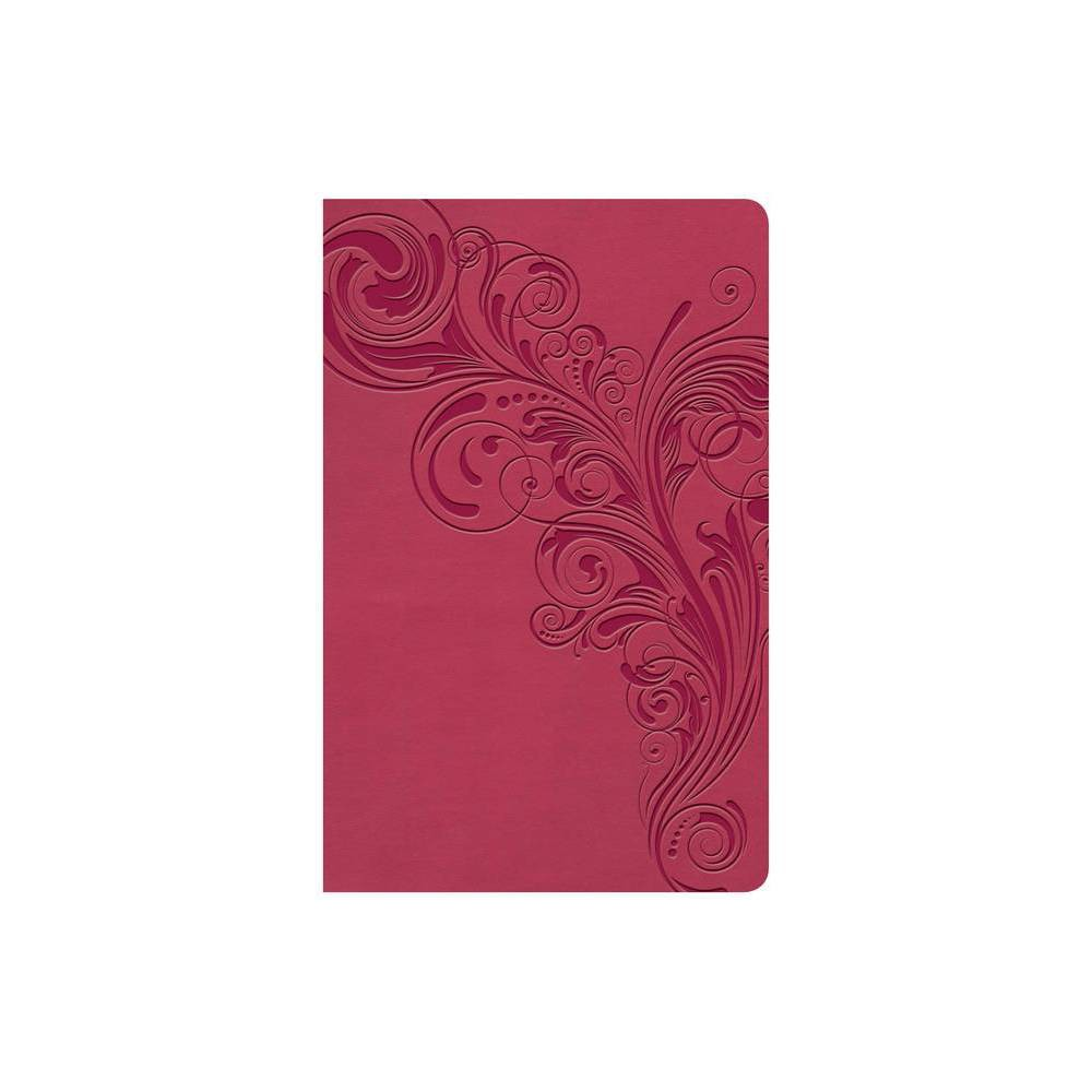 KJV Large Print Personal Size Reference Bible Pink Leathertouch Indexed - by Holman Bible Staff (Leather Bound)
