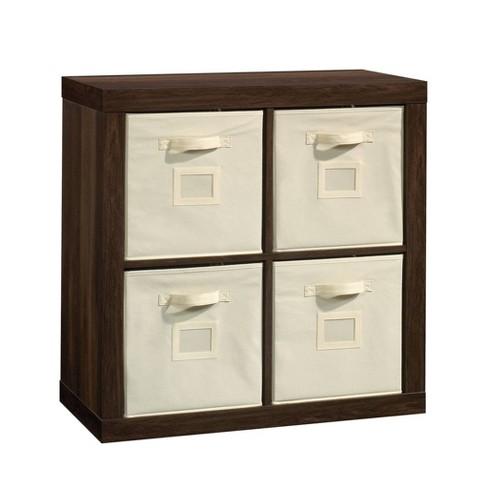 Stow Away 4 Cube Organizer Smoked Oak - Sauder - image 1 of 4
