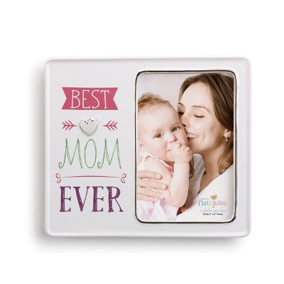 DEMDACO Best Mom Ever Frame 8 x 7 - Multi