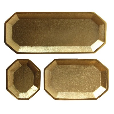 Metal Trays set of 3(8-1/4 L)