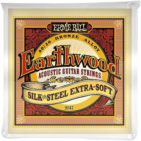 Ernie Ball 2047 Earthwood 80/20 Bronze Silk and Steel Extra Soft Acoustic Guitar Strings - image 1 of 2