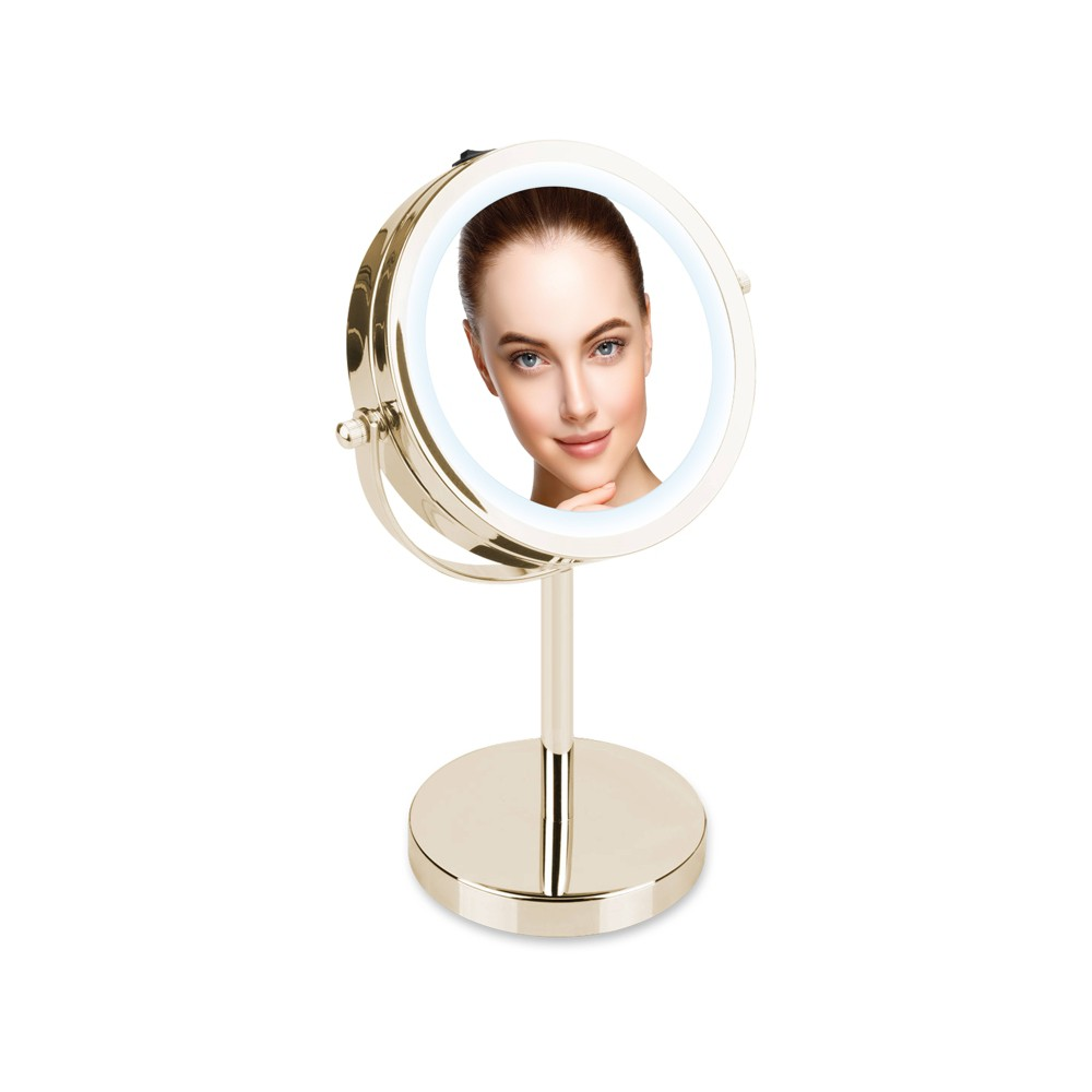 Double Sided Led Vanity Mirror Silver - Coby