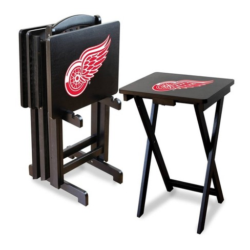 NHL Detroit Red Wings TV Trays with Stand - image 1 of 1