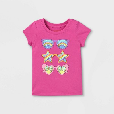 Toddler Girls' Sunglasses Graphic T-Shirt - Cat & Jack™ Pink