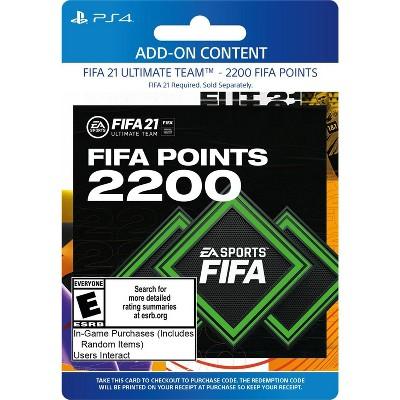 FIFA 21: 2200 Ultimate Team Points - PlayStation 4/5 (Digital)