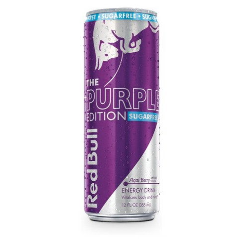 Red Bull® Purple Edition Sugarfree Acai Berry Energy Drink - 12 fl oz Can - image 1 of 5
