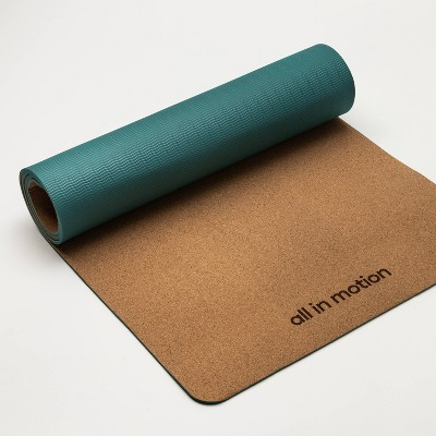 Natural Cork TPE Yoga Mat 5mm Green - All in Motion™