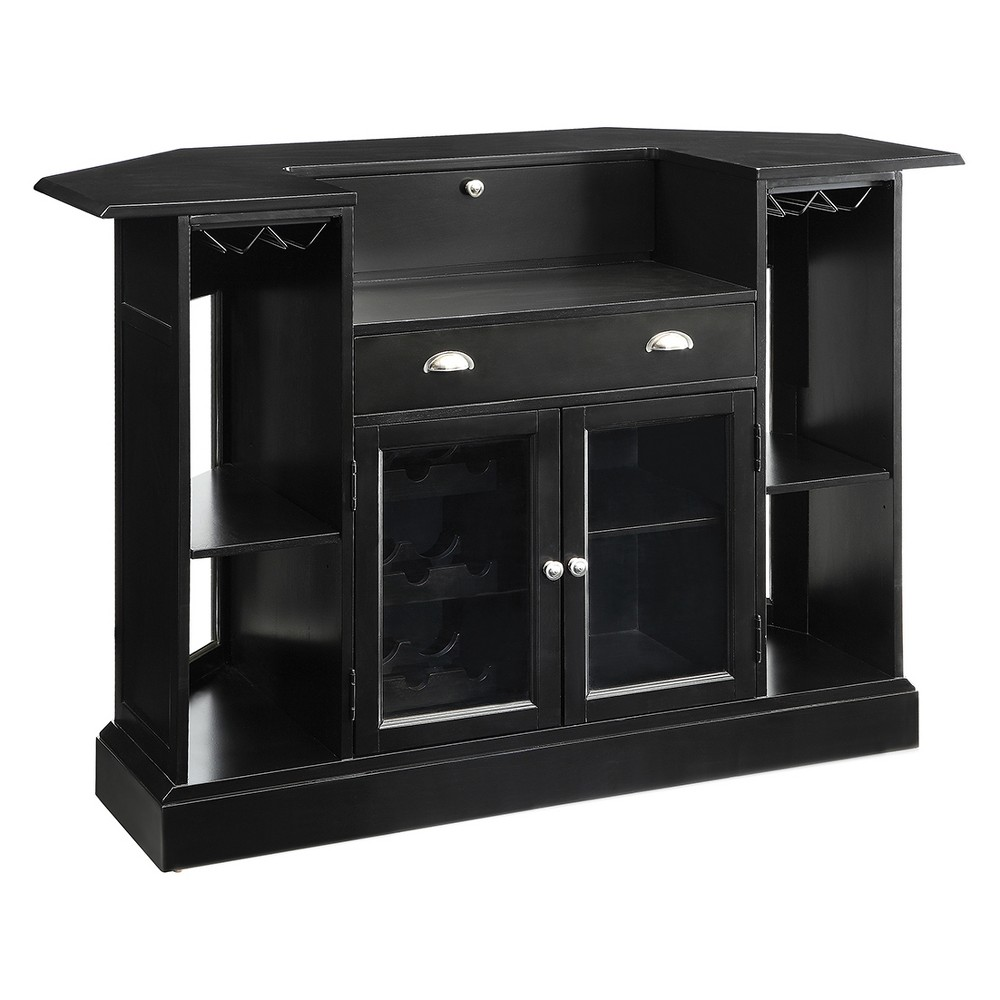 Private Reserves Bar Unit Black with Tempered Glass