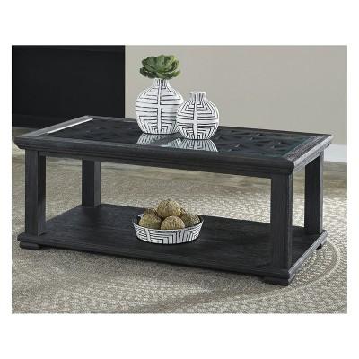 Ordinaire Tyler Creek Rectangular Cocktail Table Black   Signature Design By Ashley :  Target
