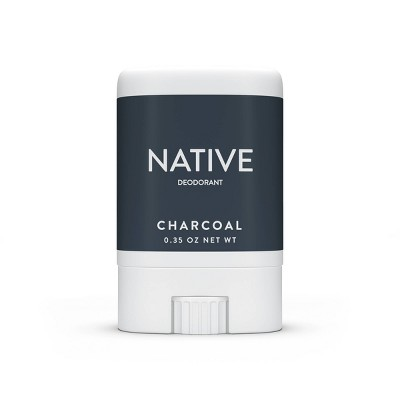 Native Charcoal Mini Deodorant for Men - Trial Size - 0.35oz