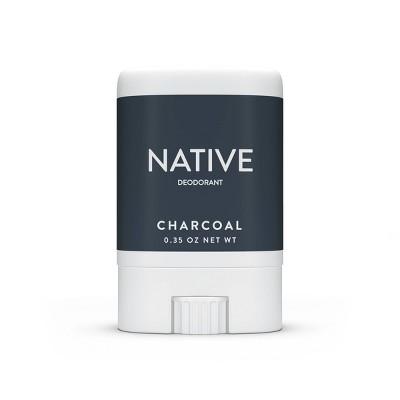 Native Charcoal Mini Deodorant for Men - Trial Size - 0.35oz