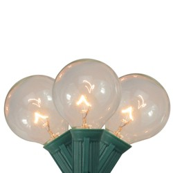Northlight 20ct G40 Globe Patio Garden Christmas Lights Clear - 19' Green Wire