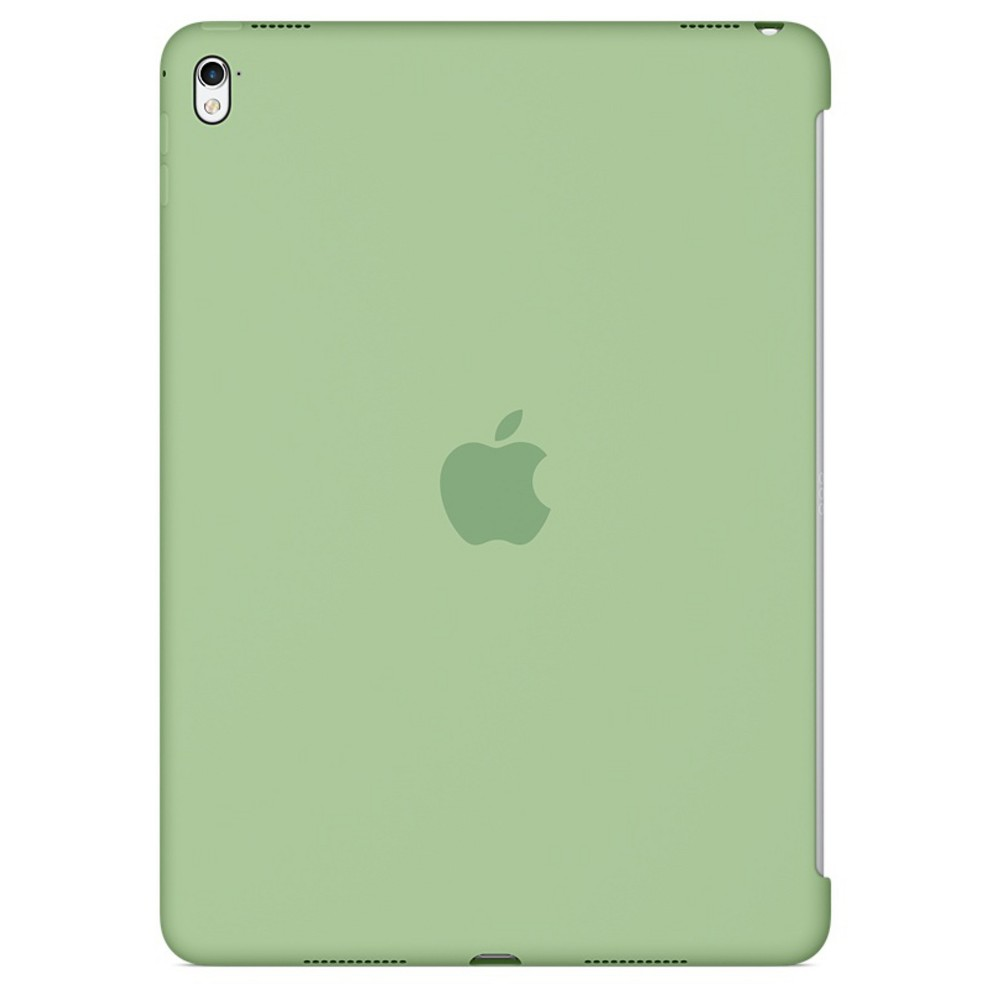 Apple iPad Pro 9.7-inch Silicone Case - Mint (Green) The Silicone Case for the 9.7-inch iPad Pro protects the back of your device and is designed to pair seamlessly with the Smart Cover for full front-and-back coverage. The smooth silicone material feels great in your hand and protects your iPad Pro while maintaining its sleek, beautiful design. Color: Mint. Pattern: Solid.