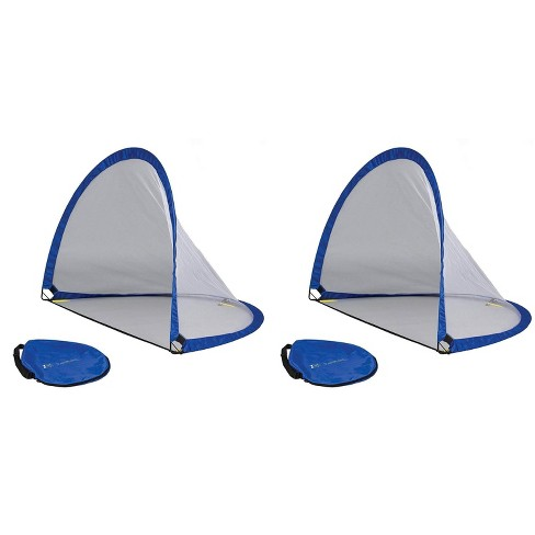 Eastpoint Portable Outdoor Backyard Kids and Family Twister 6 Foot Mesh Popup Soccer Hockey Training Goal (2 Pack) - image 1 of 3