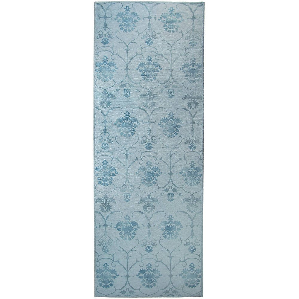 "Image of ""2'5""""x7' Runner Leyla Rug Blue - Ruggable, Size: 2'5""""x7'"""