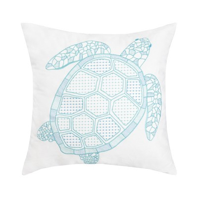 """C&F Home 18"""" x 18"""" Turtle Indoor / Outdoor Embroidered Pillow"""