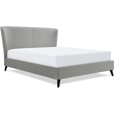 Adele Wingback Upholstered Platform Bed - Adore Decor