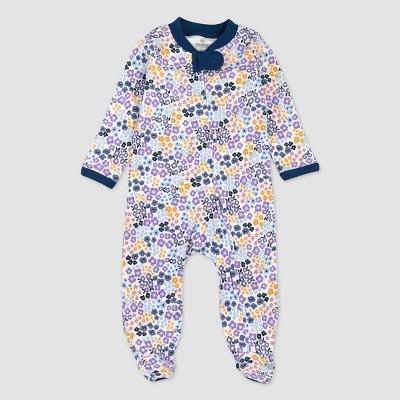 Honest Baby Girls' Meadow Floral Organic Cotton Sleep N' Play - Purple