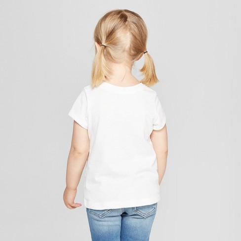 a49b32ba Toddler Girls' Alphabet Short Sleeve T-Shirt - Cat & Jack™ White ...