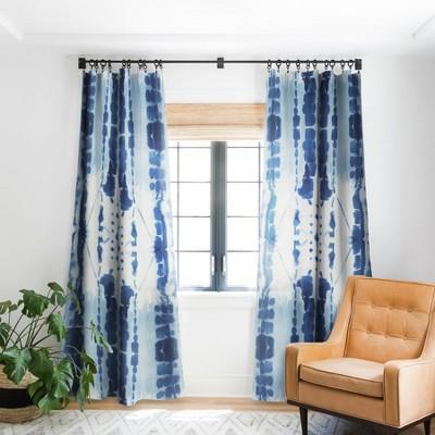 Jacqueline Maldonado Paradigm Blue Single Panel Blackout Window Curtain - Deny Designs