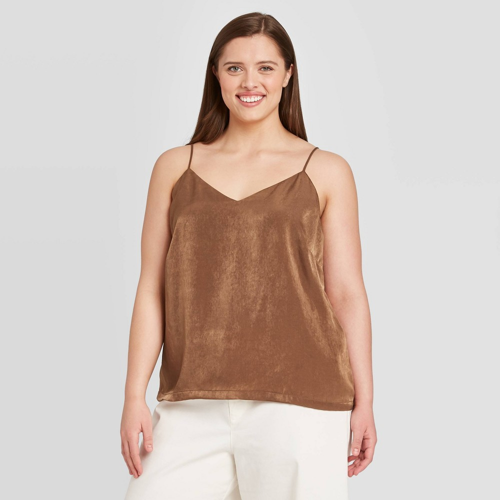 Women's Plus Size V-Neck Tank Top - Prologue Brown 1X was $17.99 now $12.59 (30.0% off)