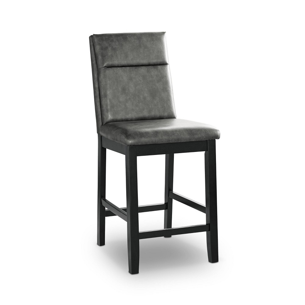 Cheap Set of 2 Ferncliff Padded Seat Counter Height Chair Black/Gray - HOMES: Inside + Out