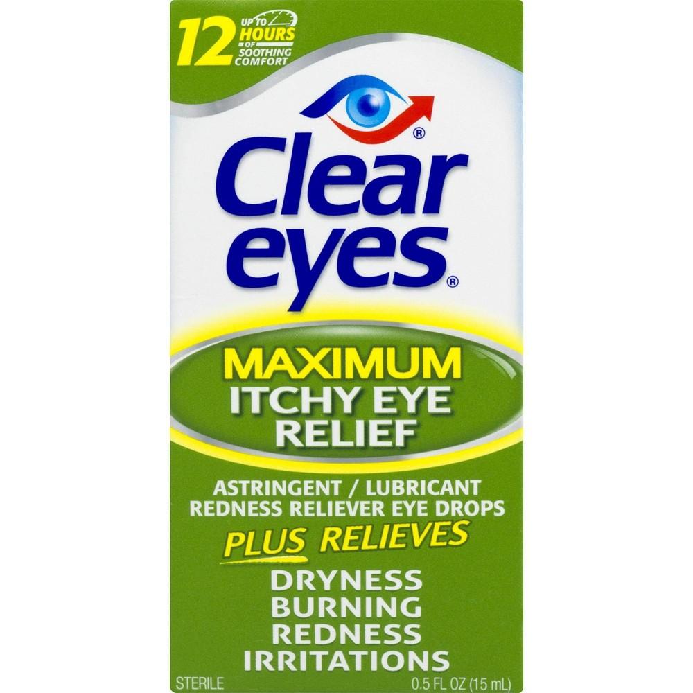 Clear Eyes Maximum Itchy Eye Relief Drops - 0.5 fl oz