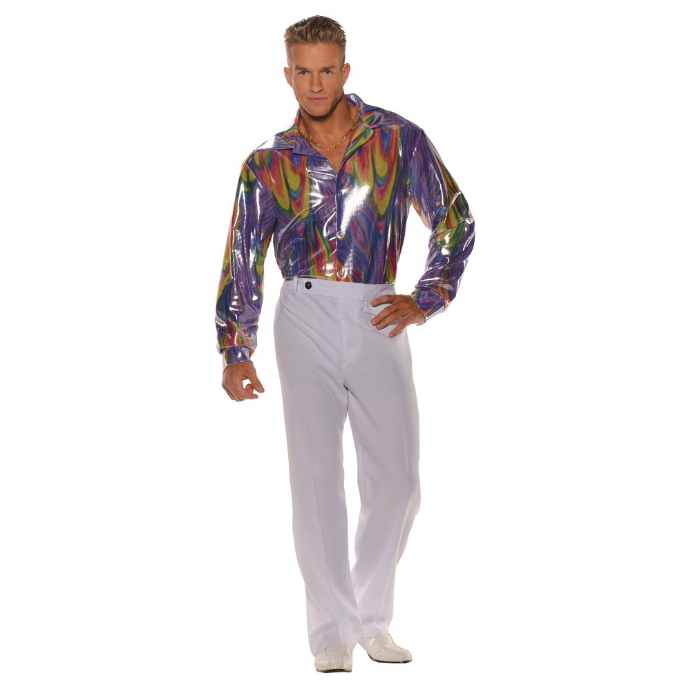 Men's Disco Shirt Costume XX Large, Size: Xxl, Purple