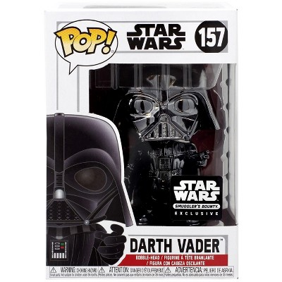Star Wars Darth Vader Exclusive #157  ** SOLD OUT ** Funko Pop Red Chrome
