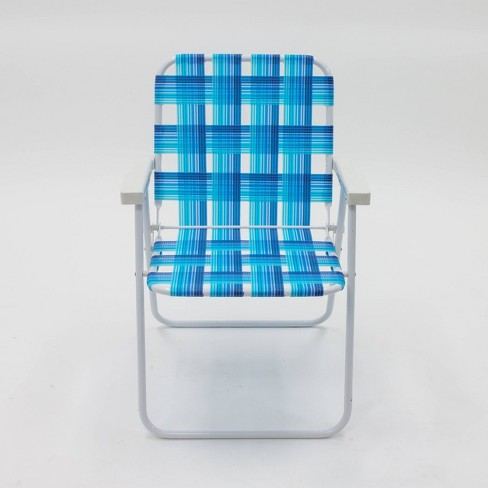 Webstrap Beach Chair Blue - Sun Squad™ - image 1 of 2