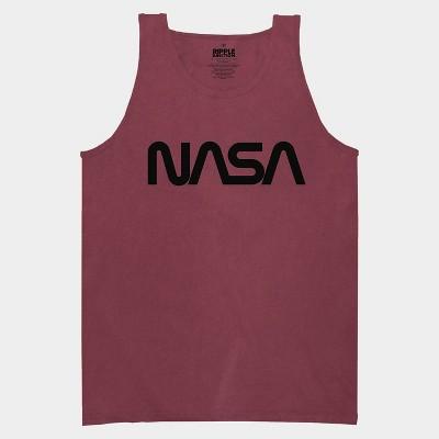 Mens' NASA on Berry Tank Top - Marron