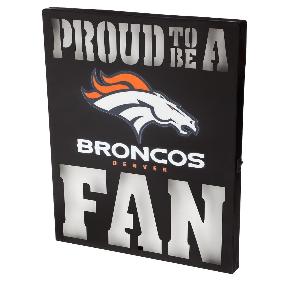 Denver Broncos Team Sports America Metal Led Wall Décor