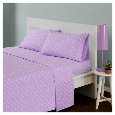 Polka Dot Printed Cotton Sheet Set