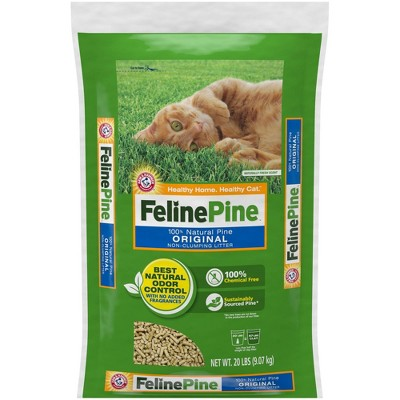 Feline Pine 100% Natural Pine, Odor Control, Non-Clumping Cat Litter - 20lbs