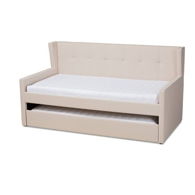 Twin Giorgia Daybed with Trundle Beige - Baxton Studio